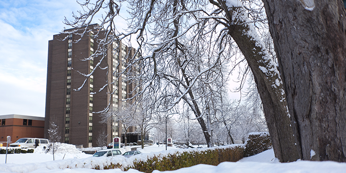 Marguerite Hall in the winter