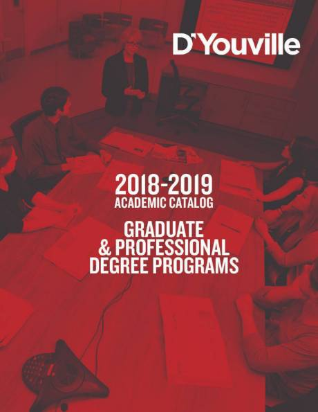 Image: The cover of the 2018-2019 graduate catalog.