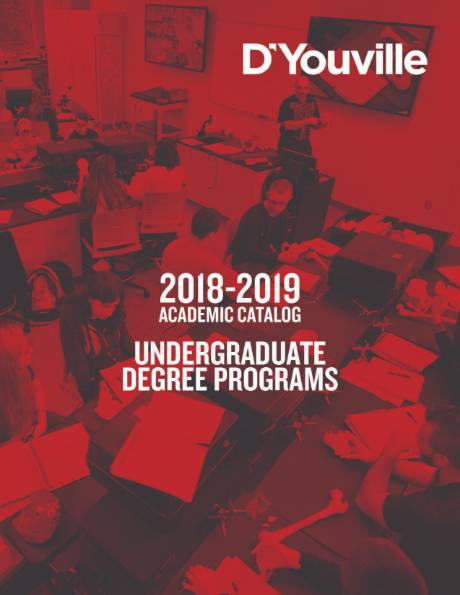 Image: The cover of the 2018-2019 undergraduate catalog.