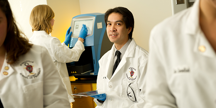 Chau Nguyen, a professor in D'Youville's School of Pharmacy