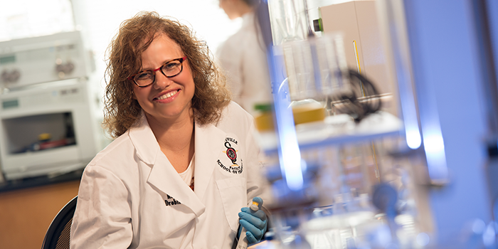 Shoshanna Zucker, a professor in D'Youville's School of Pharmacy